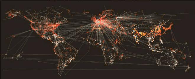 simulated disease epidemic spread